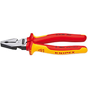 "KNIPEX® 02 08 200 US High Leverage Combination Pliers-1,000V Insulated 8"" OAL"