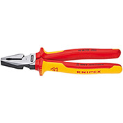 """KNIPEX® 02 08 225 SBA High Leverage Combination Pliers-1,000V Insulated 9"""" OAL"""