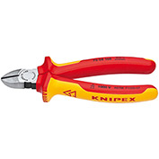 "KNIPEX® 70 08 180 SBA Diagonal Cutting Pliers-1,000V Insulated 7-1/4"" OAL"