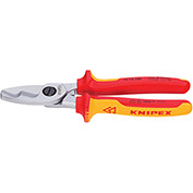 "KNIPEX® 95 16 200 Insulated Cable Shears-1,000V 8"" OAL"