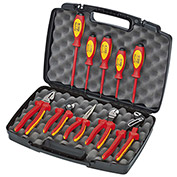 KNIPEX® 9K 98 98 30 US 10 Pc Pliers / Screwdriver Insulated Tool Set 1,000V, Hard Case