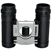 Konus 2015 Basic 10X25mm Compact Binoculars, Central Focus, Ruby Coating, Black/Silver