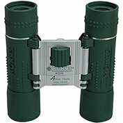 Konus 2032 Action 10x25mm Pocket Binoculars, Central Focus, Ruby Coating, Green