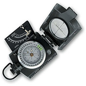 Konus 4074 Konustar-10 Metal Compass, Liquid Filled With Clinometer, Grey