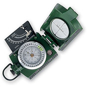 Konus 4075 Konustar-11 Metal Compass, Liquid Filled With Clinometer, Green