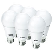 Kobi Electric K0M8-6 LED A19, 10W, 4000K, 800 Lumens, Omni Directional, Dimmable - Pkg Qty 6