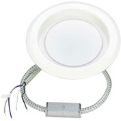 K0R0 Down Light, Com Retrofit, 6 In, White, Dim 0-10V, 3000K, Damp CDL6-20-30-MV