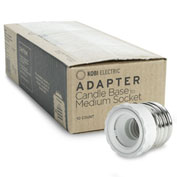 Kobi Electric KA-E26M-E12F K8N0-10 Adapter Changes An E26 To An E12 Socket - Pkg Qty 10