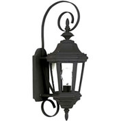 "Kenroy Lighting, Estate Small Wall Lantern, 16312BL, Black Finish, Aluminum, 10""L"