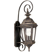 "Kenroy Lighting, Estate Medium Wall Lantern, 16313AP, Antique Patina Finish, Aluminum, 11""L"