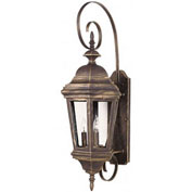 "Kenroy Lighting, Estate Large Wall Lantern, 16314AP, Antique Patina Finish, Aluminum, 14""L"
