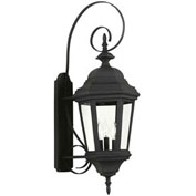 "Kenroy Lighting, Estate Large Wall Lantern, 16314BL, Black Finish, Aluminum, 14""L"