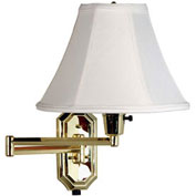 "Kenroy Lighting, Nathaniel Wall Swing Arm, 30130PB, Polished Brass Finish, Metal, 25""L"