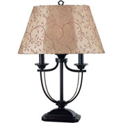 "Kenroy Lighting, Belmont Table Lamp, 31365ORB, Oil Rubbed Bronze Finish, Metal & Resin, 19.5""L"