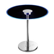 "Kenroy Lighting, Spectral LED Table, 32176GCH, Chrome Finish W/Color Changing LEDs, Metal, 20""L"