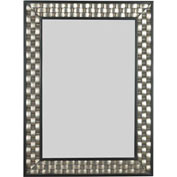 Kenroy Lighting, Checker Wall Mirror, 60013, Brushed Silver Finish W Black Accents, Wood,... by