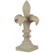 "Kenroy Lighting - Fleur de Lis Finial - Garden, 60058, Stone Finish, Painted MGO, 13""L"