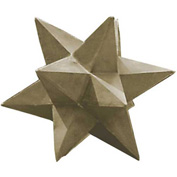 "Kenroy Lighting - Dimensional Star - Garden, 60061, Stone Finish, Painted MGO, 19""L"
