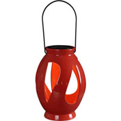 "Kenroy Lighting, Leaves Solar Lantern, 60525RED, Red, Ceramic, 7""L"