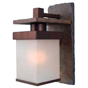 "Kenroy Lighting, Boulder 1 Lt Lg. Wall Lantern, 70282COP, Slate W/Copper Finish, Aluminum, 10""L"