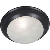 "Kenroy Lighting, Dickens 1 Light Flush Mount, 80360ORB, Oil Rubbed Bronze Finish, Metal, 12""L"