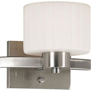 "Kenroy Lighting, Legacy 1 Light Sconce, 80411BS, Brushed Steel Finish, Metal, 8""L"