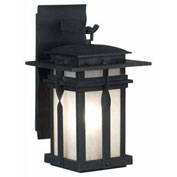 "Kenroy Lighting, Carrington 1 Light Large Lantern, 91903BL, Black Finish, Metal, 15""L"