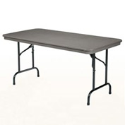 "KI Plastic Folding Table - Rectangular - 72""L x 30""W - Blue Grey - Duralite Series"