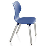 Intellect Wave Classroom 4-leg Chair - Starlight Silver frame and Splash shell