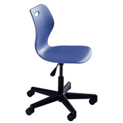 Intellect Wave Pedestal Chair in Splash