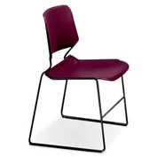 Matrix Stack Chair - Black Frame - Bordeaux - Pkg Qty 4