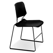 Matrix Stack Chair - Black Frame - Black - Pkg Qty 4
