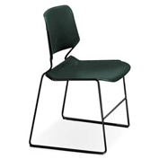 Matrix Stack Chair - Black Frame - Marine Teal - Pkg Qty 4