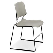 Matrix Stack Chair - Black Frame - Warm Grey - Pkg Qty 4