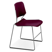 Matrix Stack Chair - Chrome Frame - Bordeaux - Pkg Qty 4