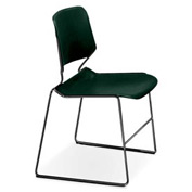 Matrix Stack Chair - Chrome Frame - Marine Teal - Pkg Qty 4