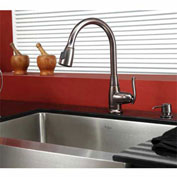 "Kraus KHF200-30-KPF2230-KSD30ORB 30"" Farmhouse Single SS Sink W/ORB Finish, Faucet & Soap Dispenser"