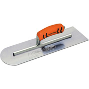 "Kraft Tool Co® CF285PF Round Front/Square Back Cement Trowel W/ProForm® Handle, 16"" x 4"""