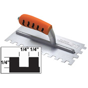 "Superior Tile Cutter® Inc. & Tools ST404PF 1/4"" Square-Notch Trowel W/ProForm® Handle"