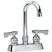 "Krowne 15-302L - Royal Series 4"" Center Deck Mount Faucet, 8-1/2"" Gooseneck Spout"