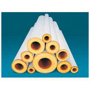 "Johns Manville 1-1/4X3' FT FIBERGLASS PIPE INSULATION 1/2"" WALL"
