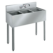 "Krowne CS-1836 - 36"" Convenience Store Sink - 3 Compartments"