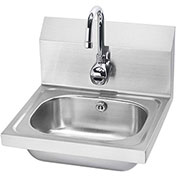 "Krowne HS-11 - 16"" Wide Hand Sink with Electronic Faucet"
