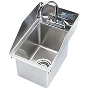 "Krowne HS-1220 - 12"" x 18"" Drop-In Hand Sink with Side Splashes"