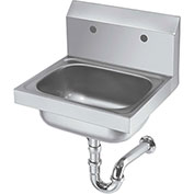 "Krowne HS-20 - 16"" Wide Hand Sink with 8"" Center Faucet Holes (LESS FAUCET)"