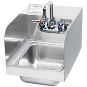 "Krowne HS-30L - 12"" Wide Space Saver Hand Sink with Side Splashes Compliant"
