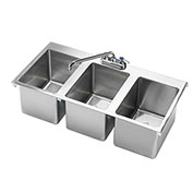 "Krowne HS-3819 - 36"" x 18"" Three Compartment Drop-In Hand Sink"
