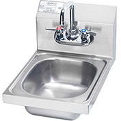"Krowne HS-9L - 12"" Wide Space Saver Hand Sink Compliant"