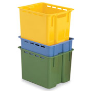 "Schaefer Stack & Nest Container KS1 - 16""L x 12""W x 10-1/2""H - Blue"