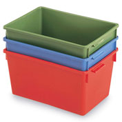 "Schaefer Stack & Nest Container KS10 - 20""L x 13-3/4""W x 10""H - Blue"